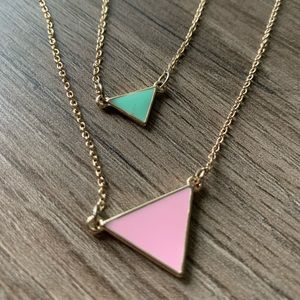 ⭐️Triangle stacking necklaces